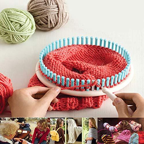 Telai per lavoro a maglia con uncino, 4 misure, telai rotondi in plastica per maglieria, per fare calzini e berrette di lana, A colori