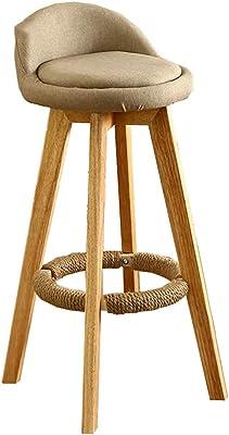 Amazon.com: Lh$yu Solid Wood Bar Stool, Bar Chair Retro ...