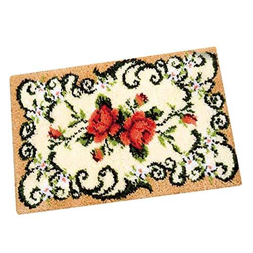 treseds Fai da Te Cuscino Cuscino Flower Gancio Gancio Gancio Kit Cucito Crocheting Embroidery Decorativo Flower Tappeto Kit all'Uncinetto