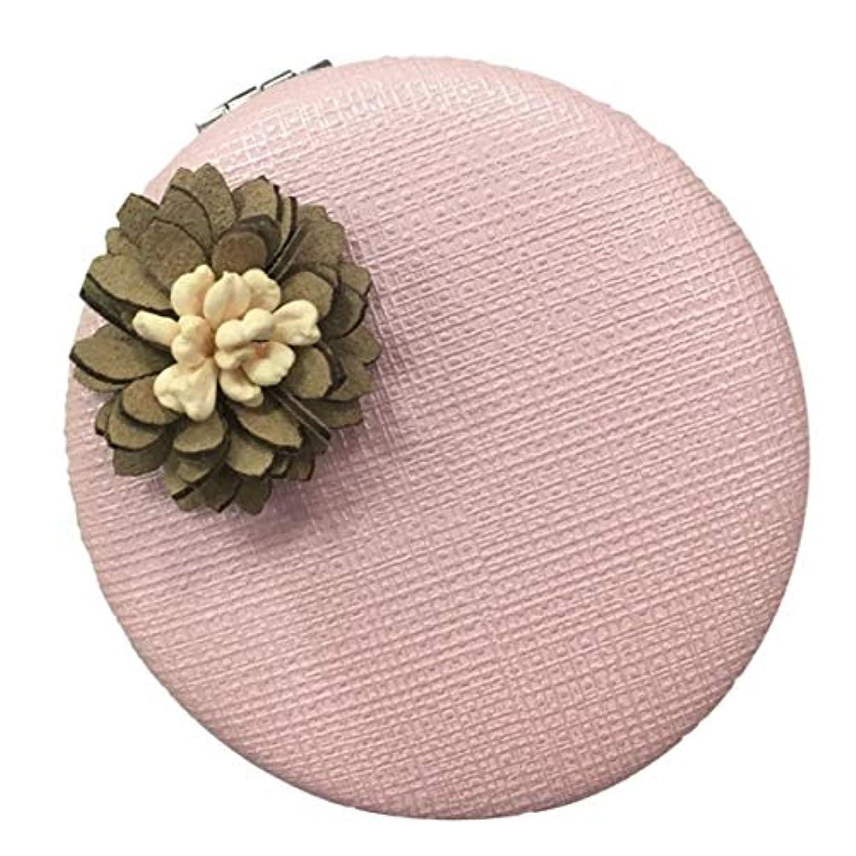 ぞっとするような鳩キャッシュRecca 化粧鏡 コンパクトミラー (色:ピンク) レディース 手鏡 ビューティ 折りたたみ 両面 携帯 メイク 丸型 花