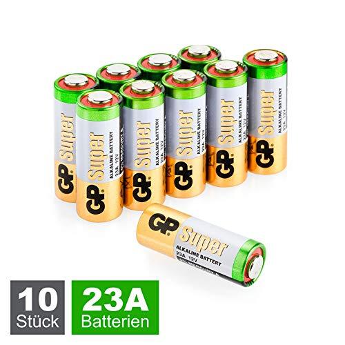 GP 23A 12V Batterien (A23s 12 Volt / MN21 / V23GA) 10 Stück Super Alkaline High-Voltage 12V Batterien für die Verwendung in Fernbedienungen, Funktürglocken, Sicherheitssystemen und vielem mehr