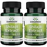 Swanson Shilajit Extract 400 Milligrams 60 Veg Capsules (2 Pack)