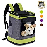 HAPPY HACHI Dog Carrier Backpack Waterproof Puppy Cat Rucksack Pet Soft Sided Padded