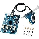 MZHOU PCI-E to PCI-E Adapter Card PCI-E 1X to 4X PCIe USB3.0...