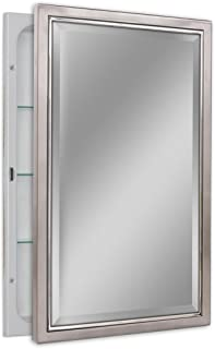 Head West Decorative Classic Nickel/Chrome Recessed Cabinet
