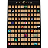 Enno Vatti 100 Movies Bucket List Scratch Off Poster - Top