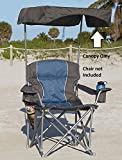 UPF 50+ Canopy for Heavy-Duty Portable Chairs - Canopy Only (Grey)