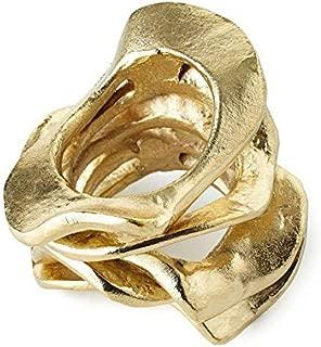 Kim Seybert Flux Napkin Ring Gold - Set of 4