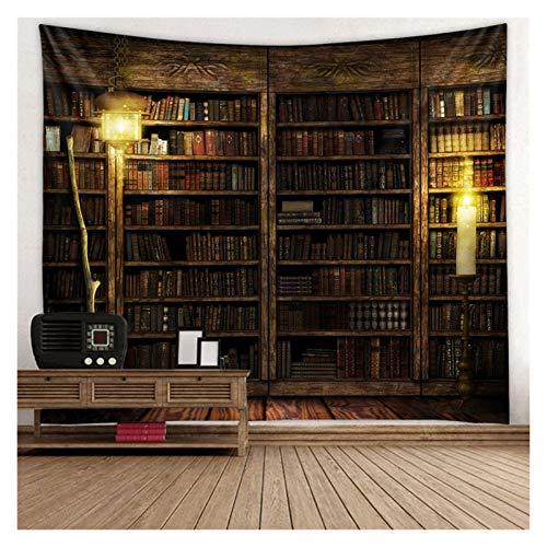 Tapiz Magic Retro Bookshelf Tapestry Art Wall Collices Tapices Colchoneta Lanza Decoración para el hogar Decoración de Arte (Color : 2, tamaño : 150x200cm)