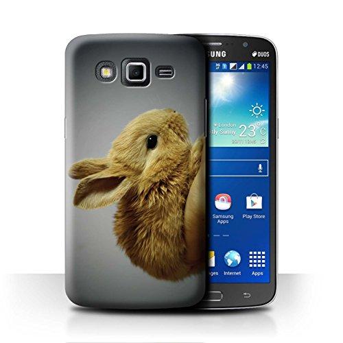 eSwish Carcasa/Funda Dura para el Samsung Galaxy Grand 2/G7102 / Serie: Lindos Animales de Compañía - Conejito/Conejo
