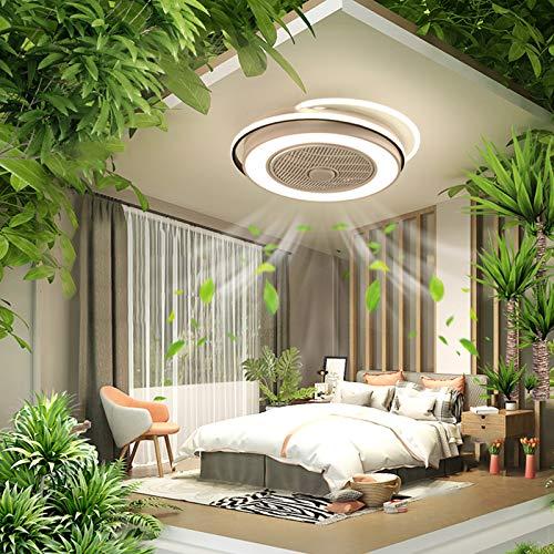 Ventilador de techo con luz invisible, ventilador de techo sin hojas con luces LED, ventilador de techo con iluminación LED, máx. 60 W, altura de fijación: 20 cm, ancho de fijación: 58 cm