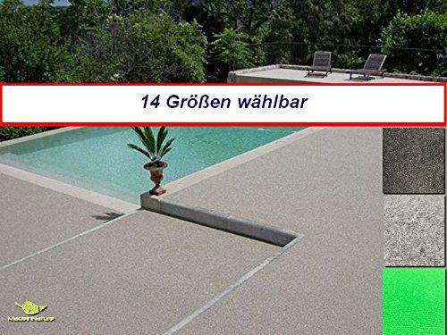 MadeInNature Außen Teppich | Nadelfilz Teppich, GUT-Siegel, Emissions- und geruchsfrei, wasserabweisend |Bodenbelag im Freien | Größe wählbar (150 x 200 cm, Hellgrau)