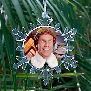 Will Ferrell Buddy The Elf Movie Snowflake Blinking Holiday Christmas Tree Ornament