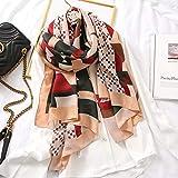Marca De Lujo Otoño Invierno Mujer Playa Calidad Hermoso Mantón Bufanda De Seda De Algodón Bufandas DeModa Abrigo Popular 180X90Cm 19