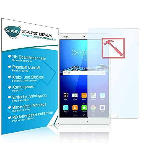 "Slabo Lámina de Vidrio Premium Compatible con Huawei MediaPad M3 21,33 cm (8,4"") Lámina Protectora Protector de Pantalla Templado Tempered Glass Claro - dureza 9H"