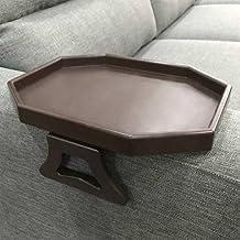 Mesa con clip para el brazo del sofá, mesa de la bandeja del reposabrazos, soporte para bebidas / control remoto / bocadillos