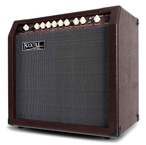 Rocktile AA-30 BN Eric Akustikverstärker - 30 Watt - 2 Kanäle (Mikrofon und Gitarre) - 10