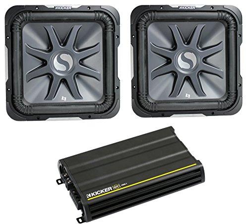 """2) KICKER S10L72 10"""" 2400W Car Audio Subwoofers Subs L7+ 12CX12001 Amplifier Amp"""