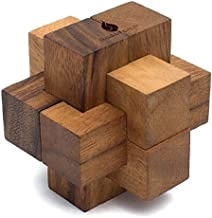 Links: Handheld 3D Brain Teaser Puzzle for Adults - Handmade Premium Quality Burr Puzzle Gift for Offices and Homes