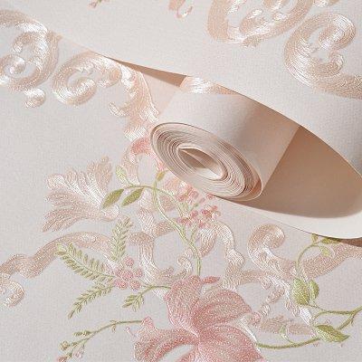 xy Exquisite Wandtattoo Fototapete Rollenpapier Europäische Romantik Ländliche Blume 3D Tapete...