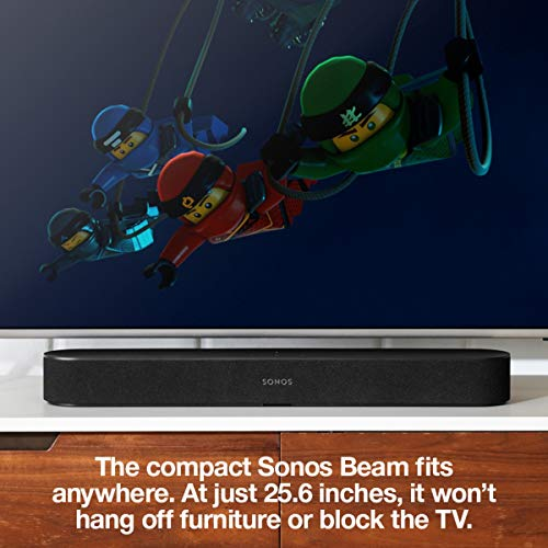 Sonos Beam, the smart, compact soundbar for TV, music, and more. (Black)