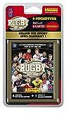 Panini- Rugby 2017-2018 Blister 6 Pochettes (5 Stickers +1 Carte), 2330-038, Non