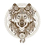 American Educational Products Wandsticker Indischer Boho-Wolf, 50 x 70 cm