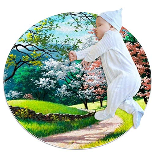 Nature Artwork Trees Baby Play Mats - Baby Crawling Mats for Boys and Girls - Children's Room Decor for Play Carpet Floor Carpets