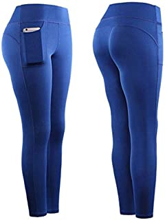 Pantalones Deporte para Mujer 2 in 1 Leggings Push Up Running Ciclismo Fitness Training Deportes Pants Transpirable Secad...