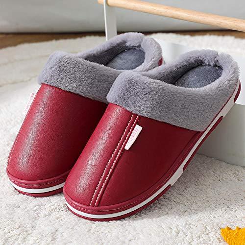 direction Zapatos de Piscina,Zapatillas de algodón, Carcasa, Medio Paquete, Felpa de Cuero de PU, Invierno-2_36-37#,Zapatos Minimalistas