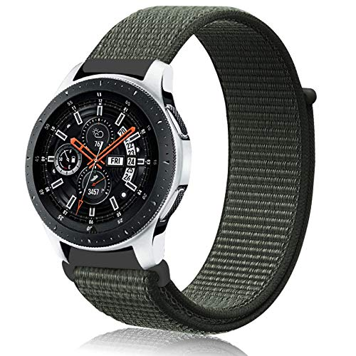 Th-some 22mm Correa para Samsung Gear S3,Pulsera de Nylon para Galaxy Watch 46mm,Banda de Reloj de Nylon Deporte Pulsera de Repuesto para Galaxy Watch 46mm/Galaxy Watch Active/Gear S3 Classic/Frontier