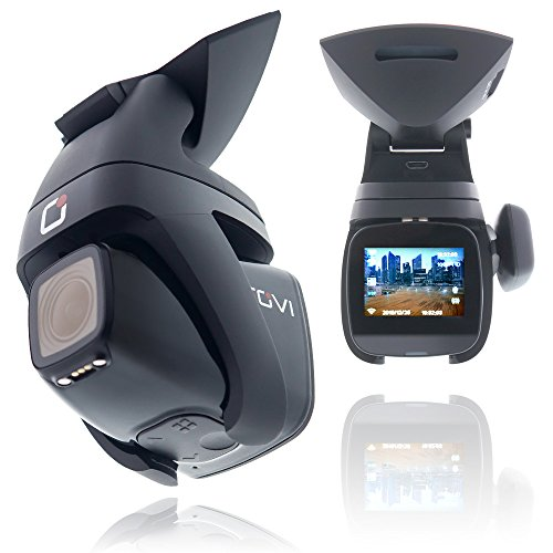 Rovi CL-6001 Magnetic Mount 1080p Full HD High Definition Panoramic Car Dash Camera Recorder with 1.5 Inch Wide Screen Wi-Fi, GPS, Loop Video Recording, Impact Detection and 360 Degree Rotation