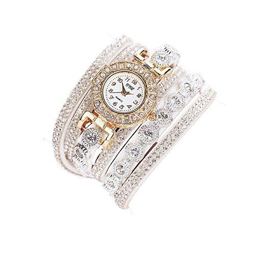 Sunnywill CCQ Damen Schöne Mode Design Strass Armband für Weibliche (White)