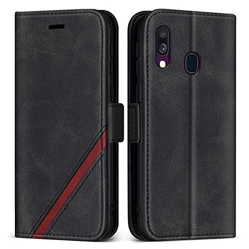 KKEIKO Cover per Galaxy A40, Custodia in Pelle PU per Samsung Galaxy A40, Magnetico Portafoglio Cover con Slot...