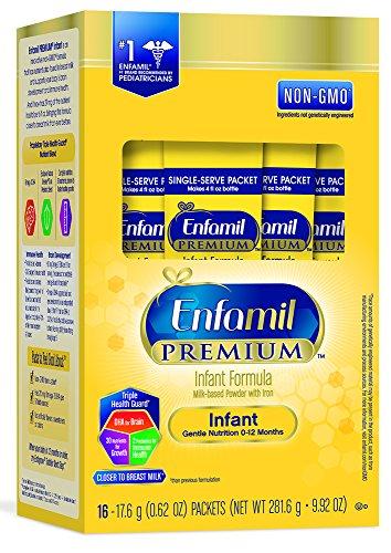 Enfamil PREMIUM Non-GMO Infant Formula - Single Serve Powder, 17.6 g (16 packets)