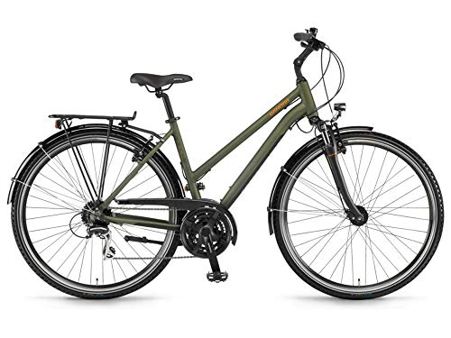 Unbekannt Winora Domingo 24 Damen Trekkingrad Oliv/schwarz matt RH 44 cm / 28 Zoll