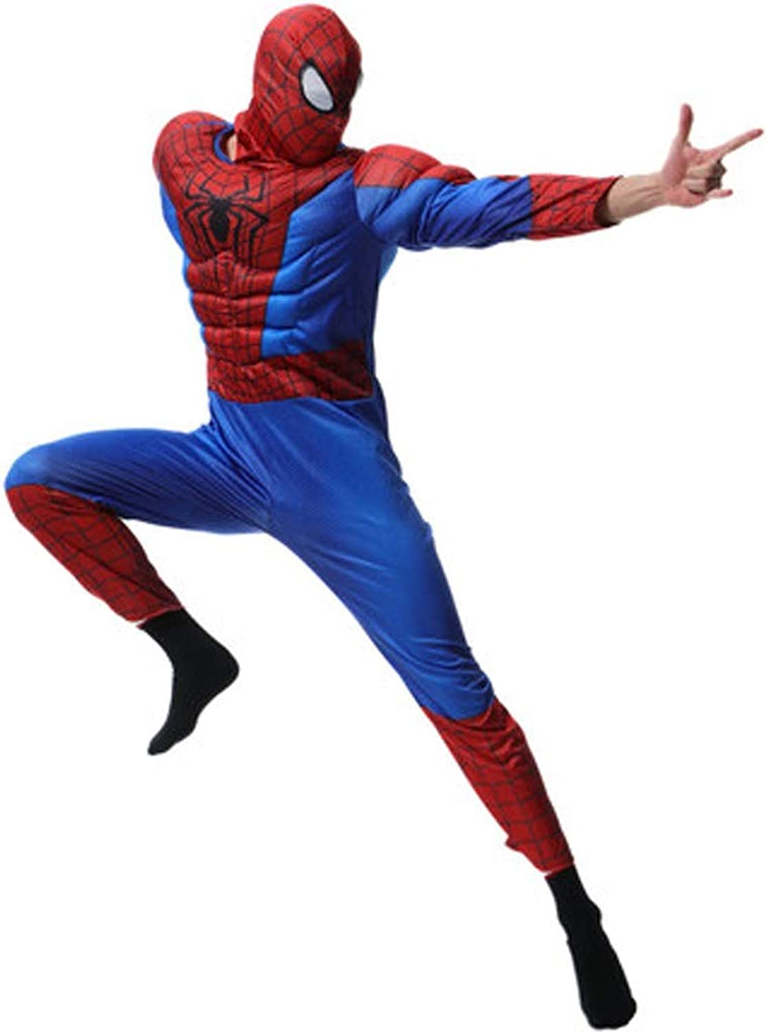 HYYSH Costume Adult Male Cosplay Spiderman Show Costume (165185 Cm)