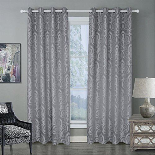 cortinas habitacion gris cortas