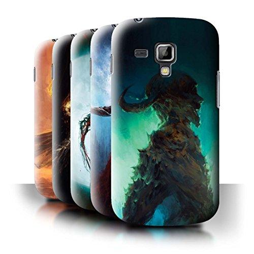 Oficial Chris Cold Carcasa/Funda/Case dura para el Samsung Galaxy Trend Plus/S7580 / serie: Bestia Demoníaca - 6pcs Paquete