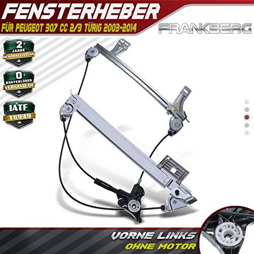 Frankberg Fensterheber Ohne Motor Vorne Links für 307 CC 3B Cabriolet 2003-2014 9221P0