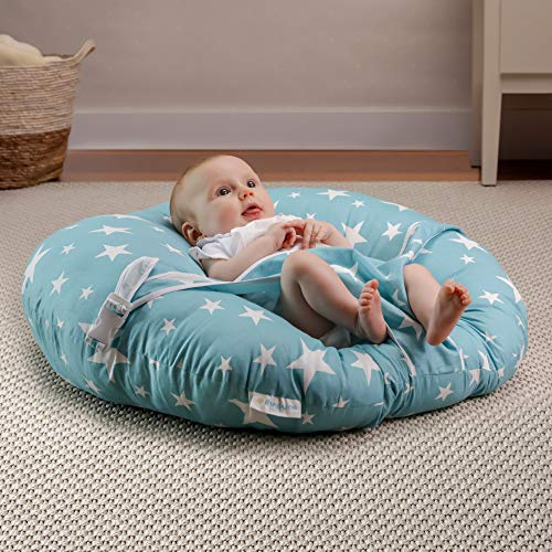BANBALOO -Babynest nestchen- Babynestchen Kokon kuschelnest für Neugeborene - Babywippe-Baby Day Kissen - Baby Nest - Babyliege. Sitzsack .Lagerungskissen Liege-Kuschelnest.