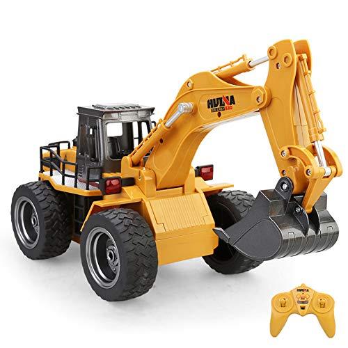 2.4G 6CH R/C legering graafmachine, gegoten techniek voertuig/radiografische afstandsbediening Bulldozer Digger/trekker Truck/voorlader, bouwplaats voertuig model