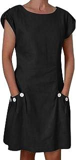 Noir, L la Robe De Ma Vie,WINWINTOM 2018 Grande Promotion V/êTements Femmes V-Cou Ray/é Robe D/éT/é Noir Blanc Ray/é Plage L/âChe Robes D/éContract/éEs Robe /à Manches Courtes