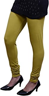 Mehandi Color Olive Green Color Indian Churidar Cotton Leggings Women Yoga Pants, Soft Legging
