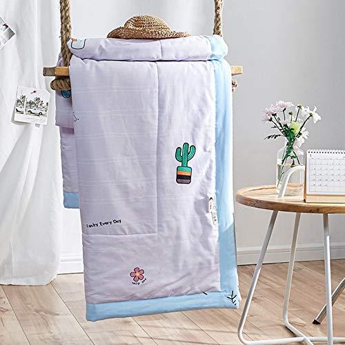 Sommer Quilt Baumwolle Einteilige DREI Oder Vier Stück Set Sommer Cool Ist Klein Frisch 150 X 200 Sommer Im Dreiteiler Süße Topfpflanzen Bettwäsche