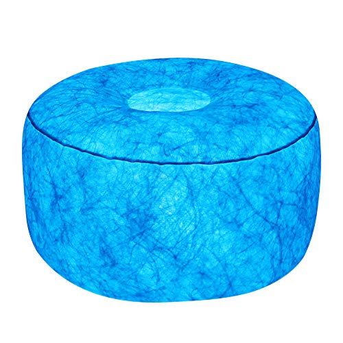 7even LED-Hocker 50cm Durchmesser | individuelle Farbeinstellung | aufblasbares Sessel Kissen inkl. Pumpe + Fernbedienung + Bedienungsanleitung