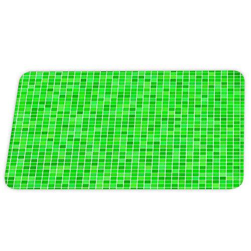 Alfombras de baño de terciopelo coral de mármol verde azulado Azulejos de dibujos animados Alfombra de ducha antideslizante de lujo para juegos de decoración de baño Alfombra de puerta con respaldo de