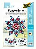folia 450500 - Fensterfolie farblos, selbsthaftend, ca. 50 x 70 cm, 10 Bogen - ideal als Vorlagebogen für Fensterbilder, Window Color