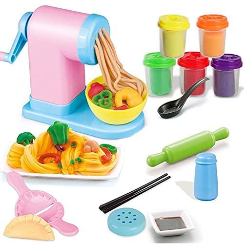 LUBINGT Pasta Maker Machine Kit Für Kinder Kinder DIY Plastilin Nudelhersteller Eismaschine Machine Play Spielzeug Spaß Modelling Clay Teig Spielset Für Mädchen und Jungen