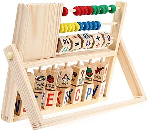 Children Baby Kids Abacus Toy Wooden Abacus Counting Number Alphabet Letter Blocks Learning product image